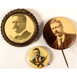 3 Different Theodore Roosevelt Buttons
