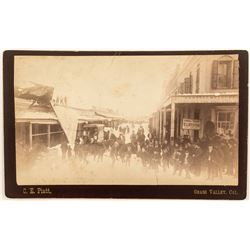 Grass Valley, CA Cabinet Card, Clothing Store in Winter