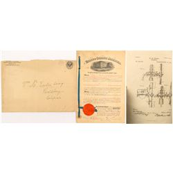 Windmill Patent with Envelope from the Patent Office
