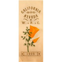 Beautiful, Colorful Women's Relief Corp. Nevada and California Ribbon