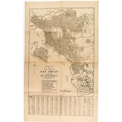 Early 1900's San Diego Street Map