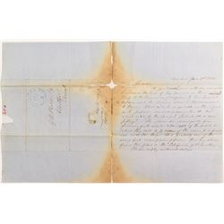 Gold Rush Related 1849 Letter w/o Envelope