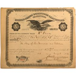 Steamship Master's Certificate for William Pierce