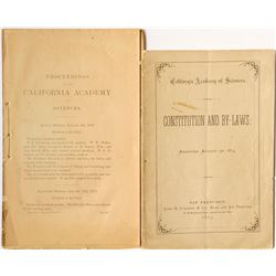 Very Early California Academy of Science Ephemera - Golden Gate's Great Museum!