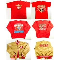 SF 49'ers Jacket, 2 Sweatshirts and 2 T Shirts
