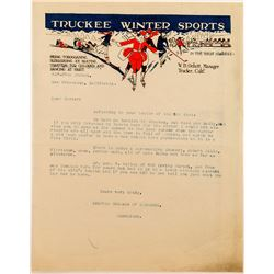 Truckee Winter Sports Color Letterhead with Great Letter
