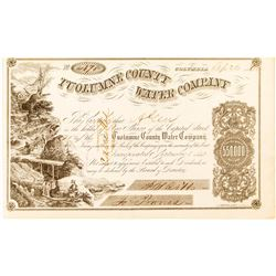 Tuolumne County Water Company Certificate