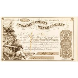 Second Tuolumne County Water Company Certificate