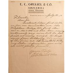 E.C. Grissel & Co. Letter, Washington, Nevada County 1904