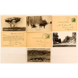 7 Northern California Postcards Including Mt. Lassen