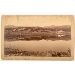 Cabinet Card of Sellers Lake at Beulah, Colorado