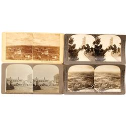 Four Different Colorado Springs Stereoviews