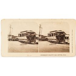 Denver Streetcar (Cherrelyn Gravity Car) Stereoview