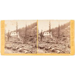 St. Lawrence Mine, Montezuma, Colorado Stereoview c.1870s
