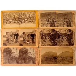Six Hawaii Territorial Stereoviews