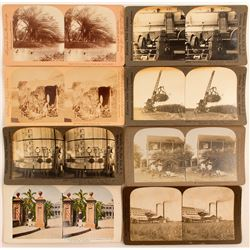 8 Hawaiian Sugar Plantation Stereoviews