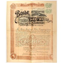 Boise Land and Water Company Bond (1892)