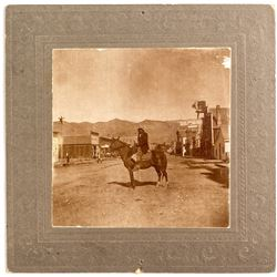 c1890 Photograph of Indian at Salmon City