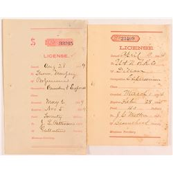 Pair of Territorial Montana Receipts for Expressmen