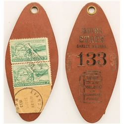 Leather Hotel State Mailed Key Fob