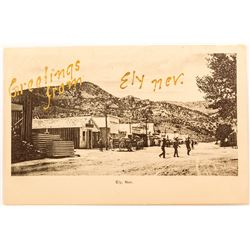 Very Early Ely Nevada Street Scene with GOLD Writing