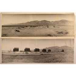 Two Early Extremely Rare Panoramas of the Naval Ammunition Depot in Hawthorne, NV