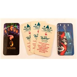 5 Las Vegas Hotel Key Cards including Star Trek