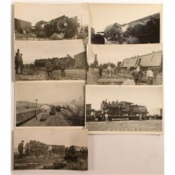 1930 Train Wreck Photographs near Mina