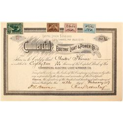Commercial Electric Power & Light Co. Stock Certificate