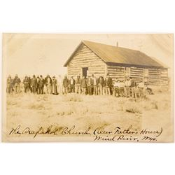 Postcard of Large Group of Native Americans in Wyoming