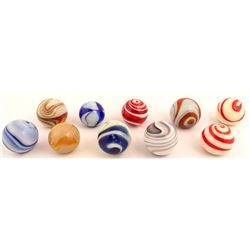 Ten Older Glass Suicide Knobs
