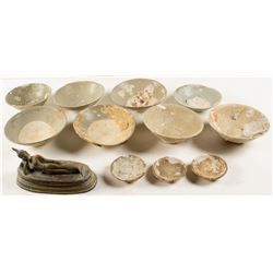 11 Sea Treasure Bowls and a Salvaged Brass Casting