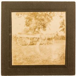 Cabinet Card Flat Bed Wagon and Driver