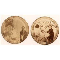 2 Edward Tray Pictorial Paperweights