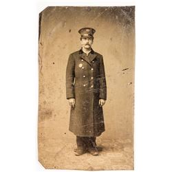 Tintype of Early Firefighter