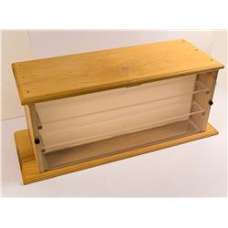 Lighted Wood Display Case