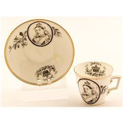 Queen Victoria Cup and Saucer