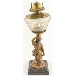 Oil Lamp with Indian