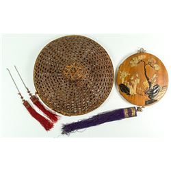 Chinese Hat and Wall Hanging