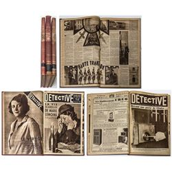 """Detective"" Bound Volumes (French Newspaper)"