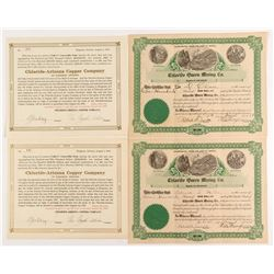 Chloride-Arizona Copper Mining Stock Certificates