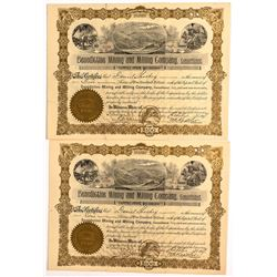 Two Benedictine Mining and Milling Company, Consolidated Stock Certificates