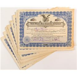 United Western Mines Corporation Reorganized Stock Certificates (17)