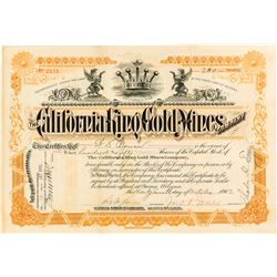 California King Gold Mines Stock Certificate