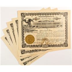 Seven Devils Copper Company Stock Certificates