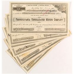 Pennsylvania Consolidated Mining Stock Certificates (14)