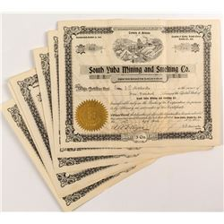 South Yuba Mining and Smelting Co. Certificates (6)