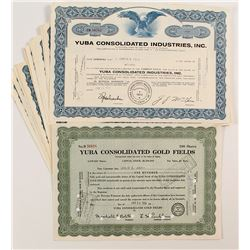 Yuba Consolidated Gold Fields Certificates (27)