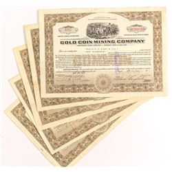 Gold Coin Mining Company Stock Certificates (5)