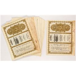 Golden Cycle Mining and Reduction Stock Certificates (50+)